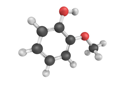 Guaiacol which contributes to the flavor of many compounds, e.g., roasted coffee. It usually derived from guaiacum or wood creosote. Samples darken upon exposure to air and light.