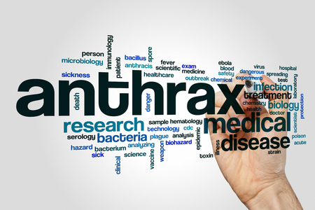 Anthrax word cloud Stock Photo