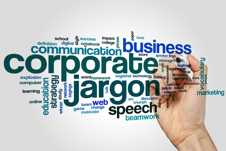 lingo: Corporate jargon word cloud concept