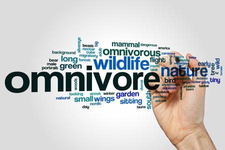 omnivore: Omnivore word cloud concept