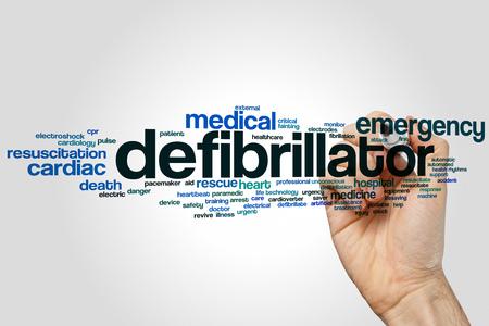 defibrillator: Defibrillator word cloud concept