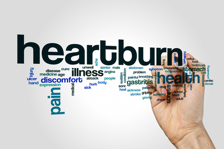 Heartburn word cloud Stock Photo