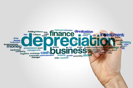 depreciation: Depreciation word cloud concept