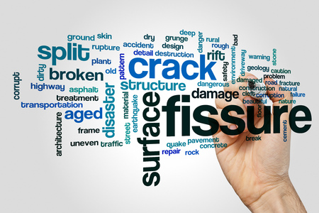 fissure: Fissure word cloud concept Stock Photo