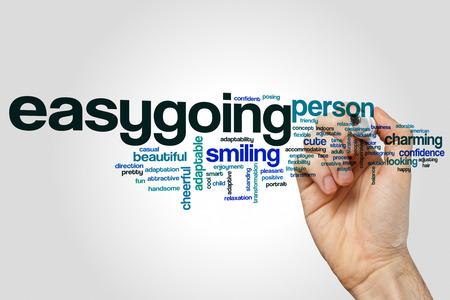 easygoing: Easygoing word cloud concept