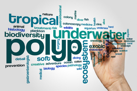 polyp: Polyp word cloud concept Stock Photo