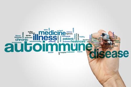 enfermedad autoinmune concepto de nube de palabras Foto de archivo