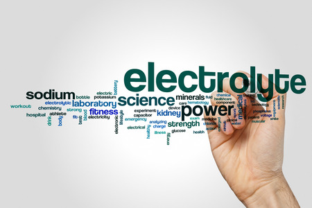 electrolyte: Electrolyte word cloud concept