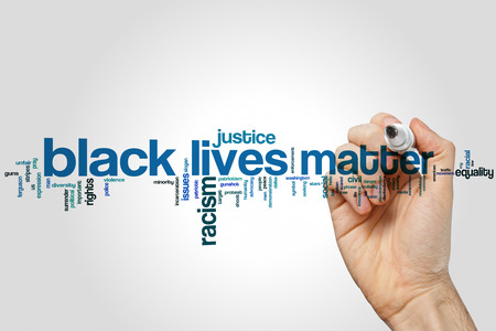 Black lives matter word cloud Stock Photo