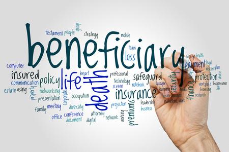 Beneficiary word cloud concept Фото со стока - 73733228