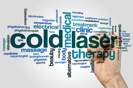 tightness: Cold laser word cloud concept