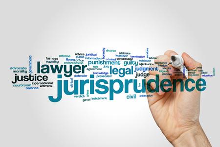jurisprudencia: Jurisprudencia palabra concepto de la nube