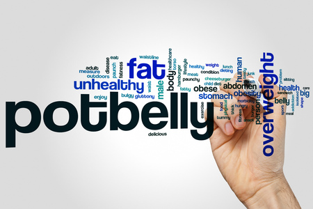 potbelly: Potbelly word cloud concept Stock Photo
