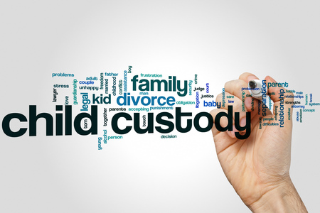 Child custody word cloud Stock Photo