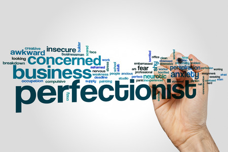 perfectionist: Perfectionist word cloud concept