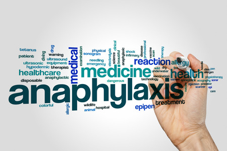 Anaphylaxis word cloud concept Stock Photo