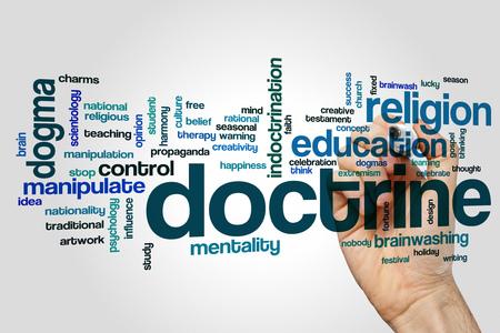 doctrine: Doctrine word cloud concept Stock Photo