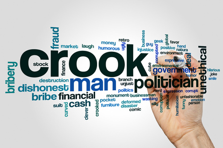 unethical: Crook word cloud concept Stock Photo