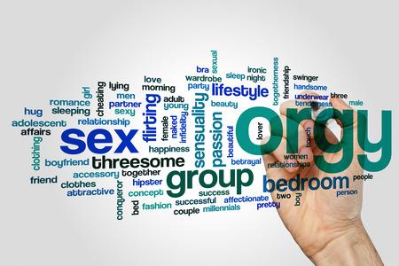 Orgy word cloud