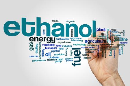 biomasa: El etanol concepto de nube de palabras