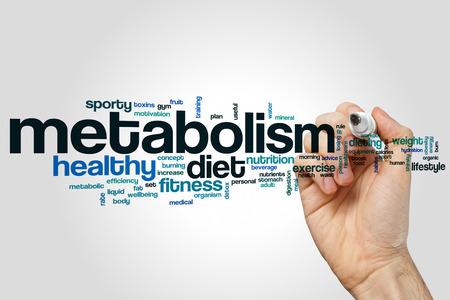 Metabolisme woord cloud concept