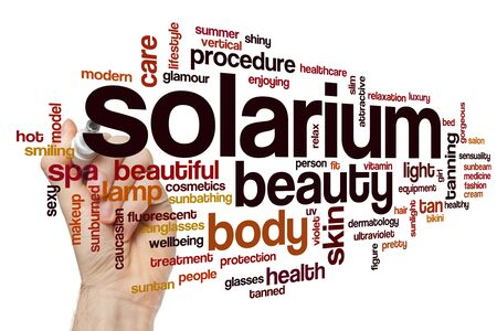 Solarium word cloud concept Stockfoto - 129413772