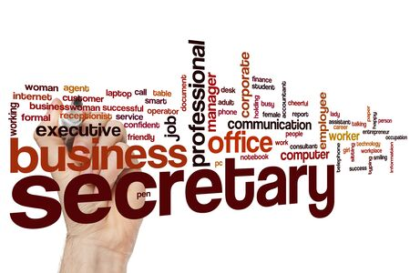 Secretary word cloud concept