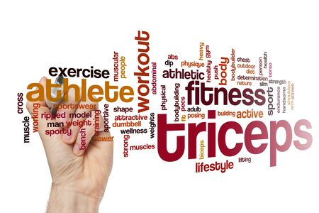 Triceps word cloud concept Stockfoto