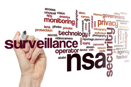 NSA word cloud concept