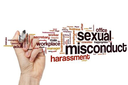 Sexual misconduct word cloud concept