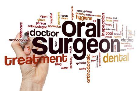 Oral surgeon word cloud concept