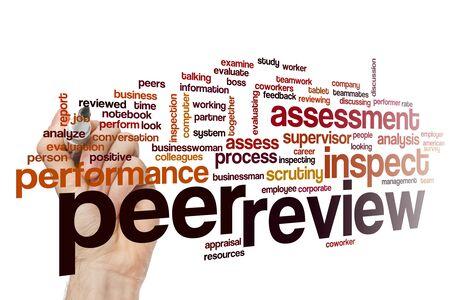 Peer review word cloud concept