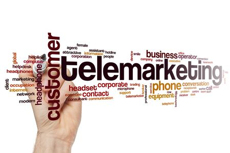 Telemarketing word cloud concept