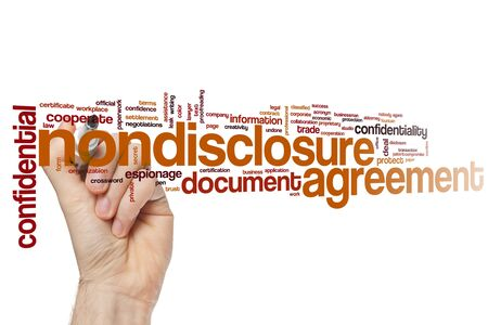 Nondisclosure agreement word cloud concept Stock Photo