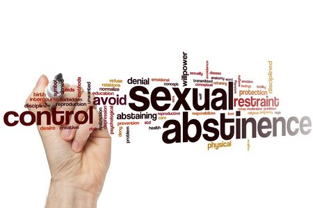 Sexual abstinence word cloud concept Stock Photo