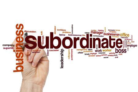 Subordinate word cloud concept 스톡 콘텐츠