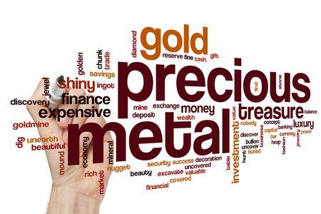 Precious metal word cloud concept Standard-Bild - 129414523