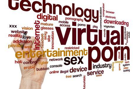 Virtual porn word cloud concept