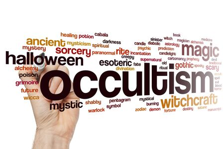 Occultism word cloud concept