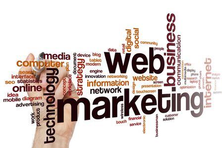 Web marketing word cloud concept 스톡 콘텐츠 - 129414895