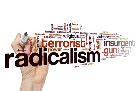 Radicalism word cloud concept