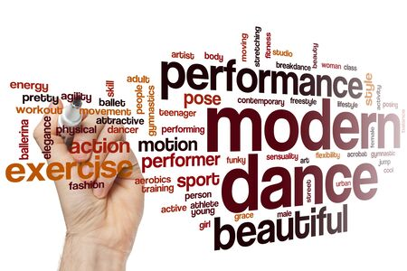 Modern dance word cloud concept