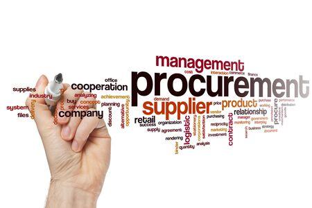 Procurement word cloud concept Stock Photo