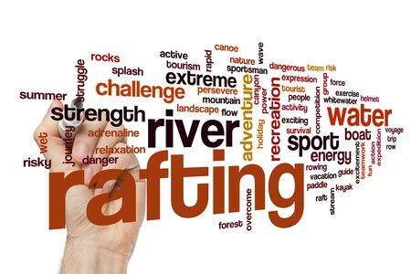 Rafting word cloud concept