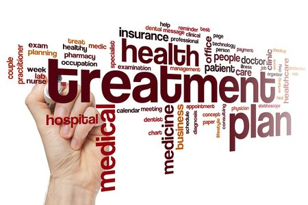 Treatment plan word cloud concept 写真素材