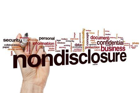 Nondisclosure word cloud concept