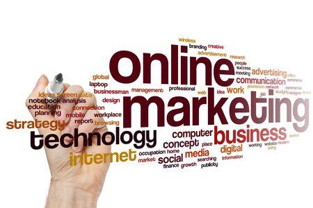 Online marketing word cloud concept