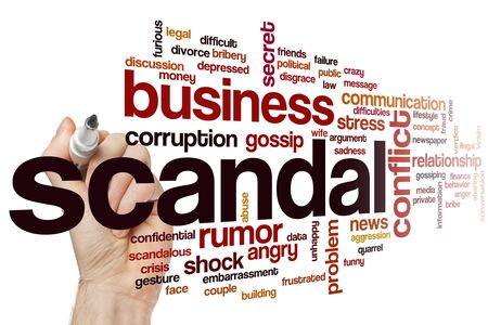 Scandal word cloud concept