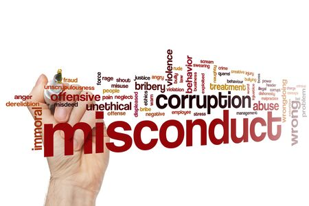 Misconduct word cloud concept 写真素材