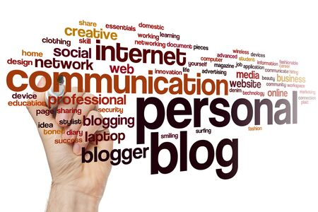 Personal blog word cloud concept 스톡 콘텐츠